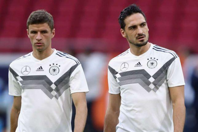 игроки сборной германии по футболу Томас Мюллер и Матс Хуммельс