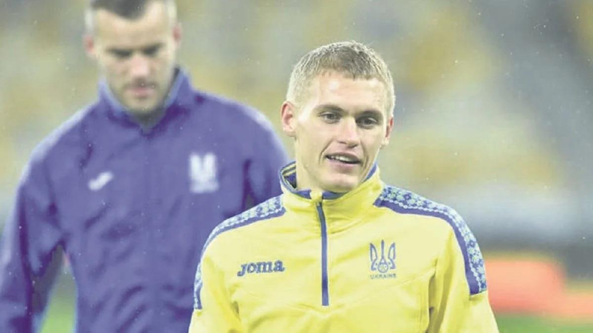 Полузащитник сборной Украины Виталий Буяльский